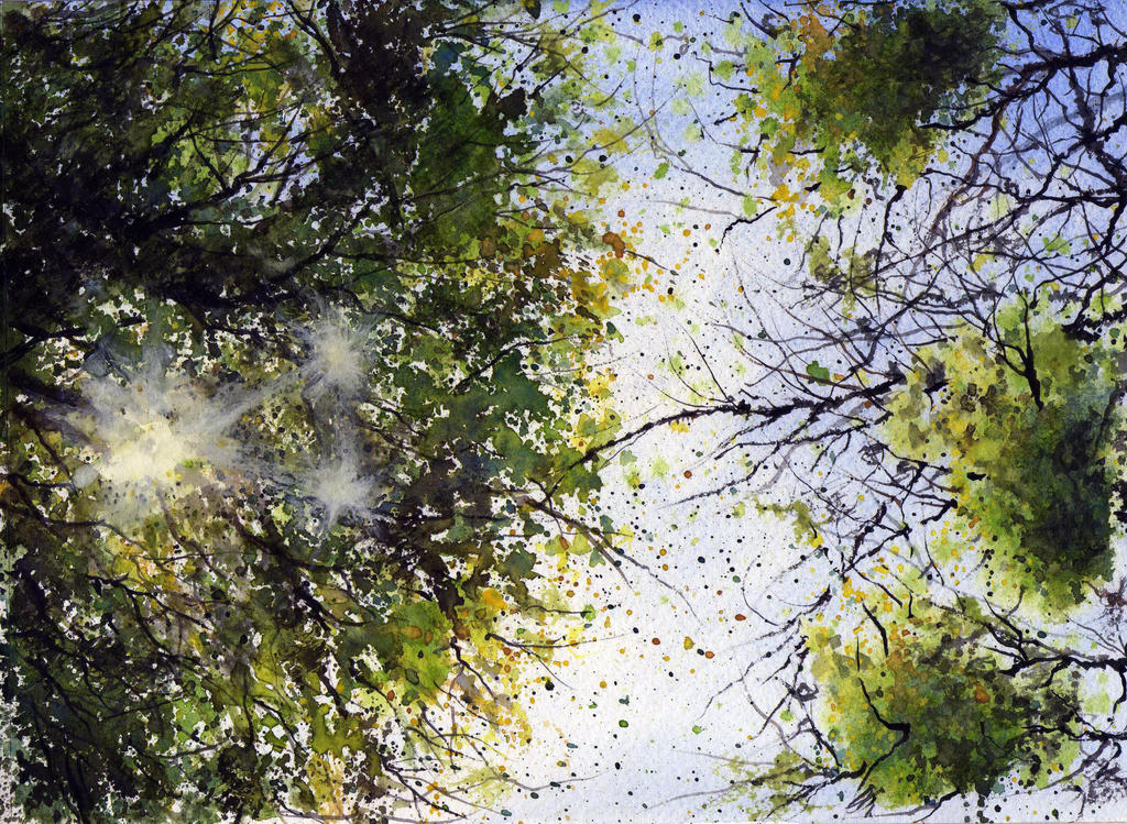 watercolor trees 2 by Just-a-Witness