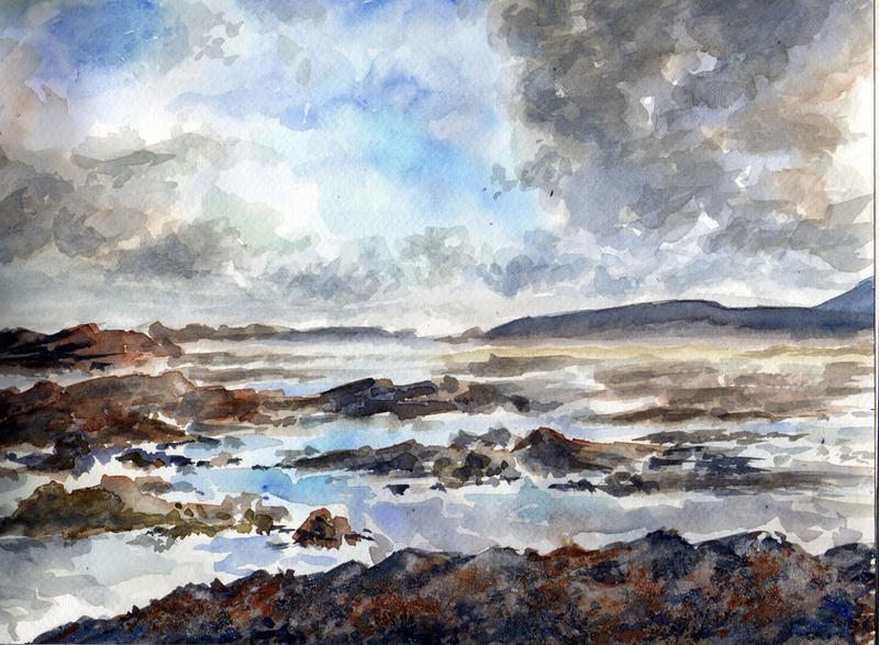 watercolor seascape by Just-a-Witness