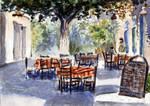 greek tavern impression