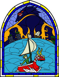 Stained Glass: The Wind Waker by Rebonack