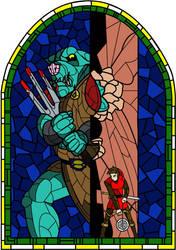 Stained Glass: Legend of Zelda by Rebonack