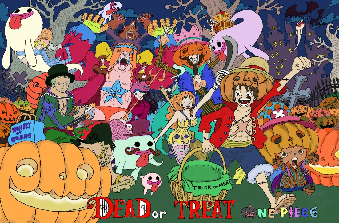 StrawHat halloween by Colour123