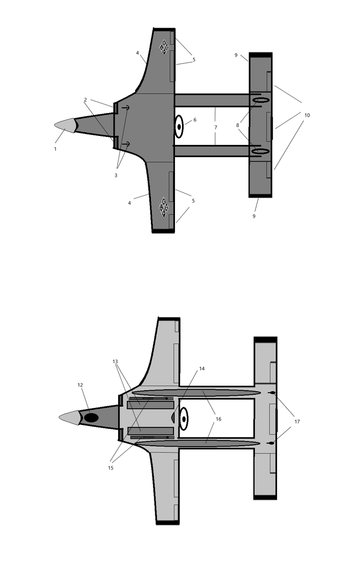 Concept Art: Skua Drone Part 2: Top and Underbelly
