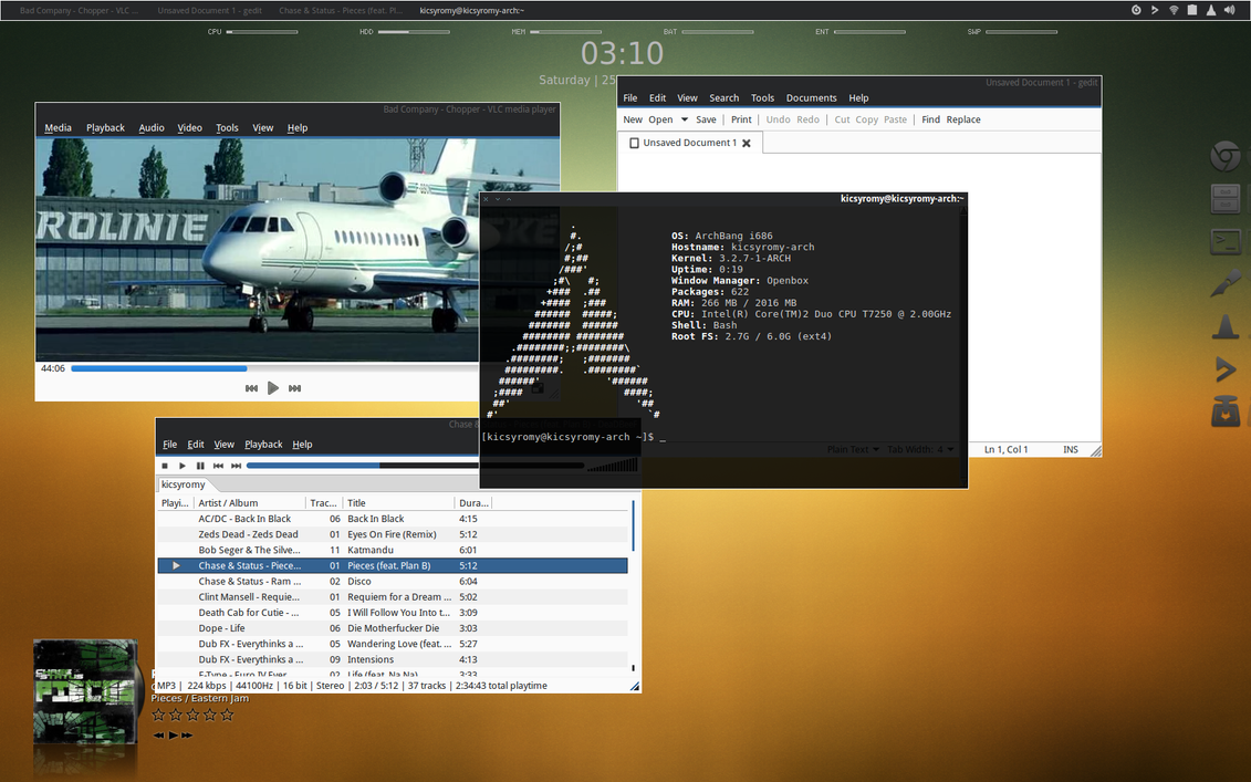 Archbang + Openbox + AWN by kicsyromy