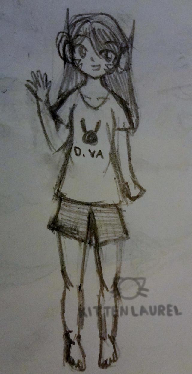 D.va Sketch by kittenlaurel