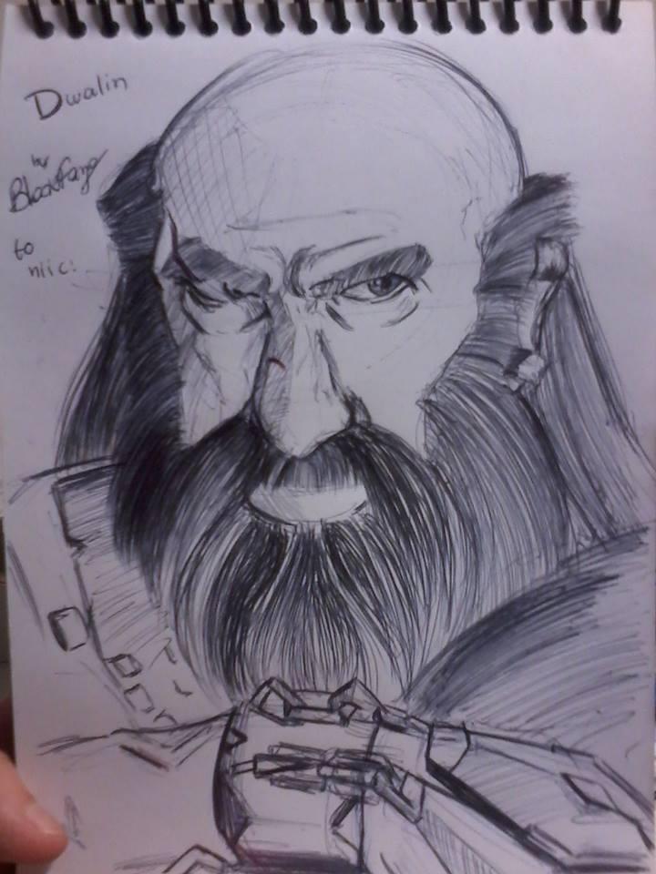 Dwalin - Training with pen by SayuriChann
