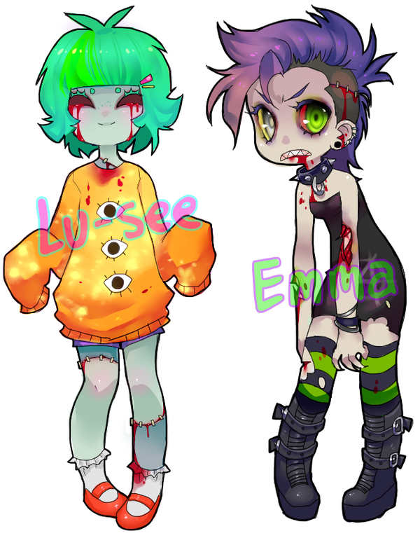 Zombie-gal Adoptables SOLD by tesazombie