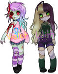 Zombie-gal Adoptables 2 ENDED