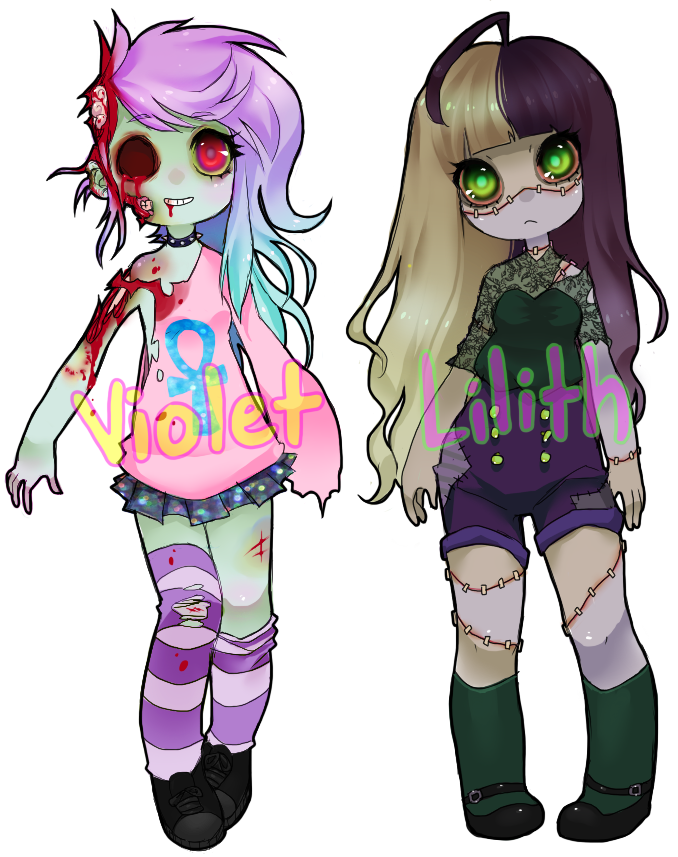 Zombie-gal Adoptables 2 ENDED by tesazombie