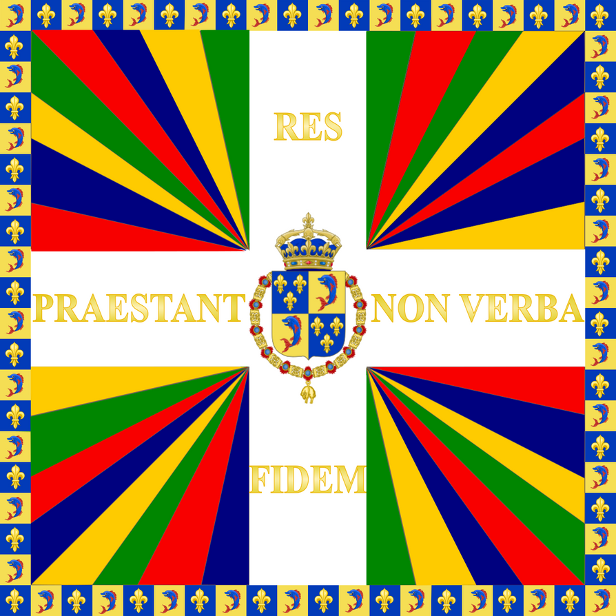 The Standard of The Regiment du Dauphin. by Claudius42