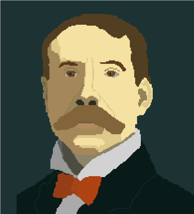 Sir Edward Elgar Pixelated Image by TheDizzyDan