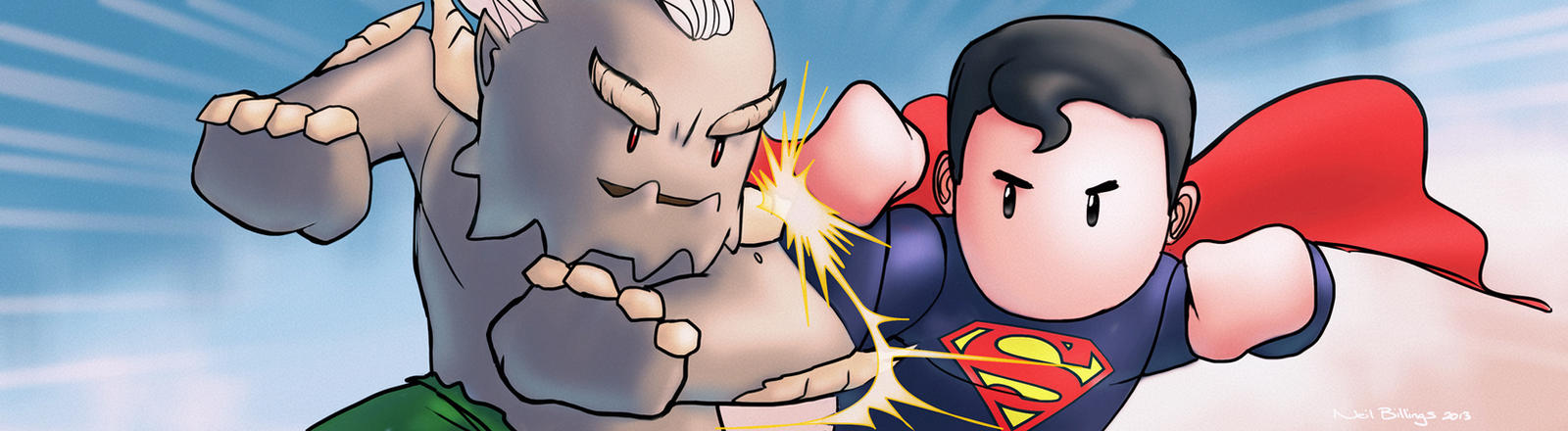 Superman vs Doomsday by Bladien