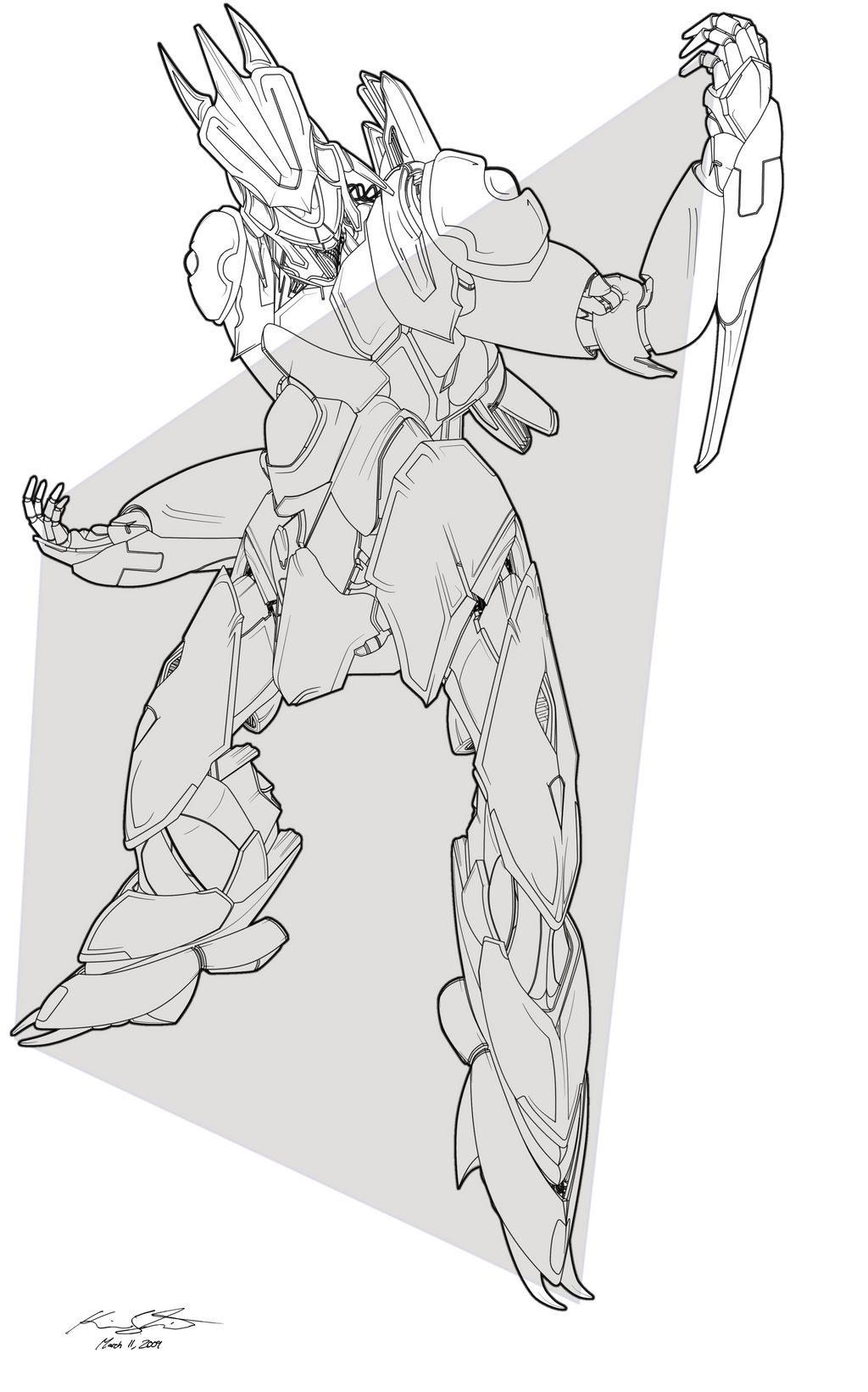 Victory Stance - Lineart by PlasmaFire3000