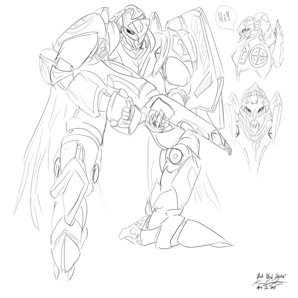 The Mecha Sketchbook - 20 by PlasmaFire3000
