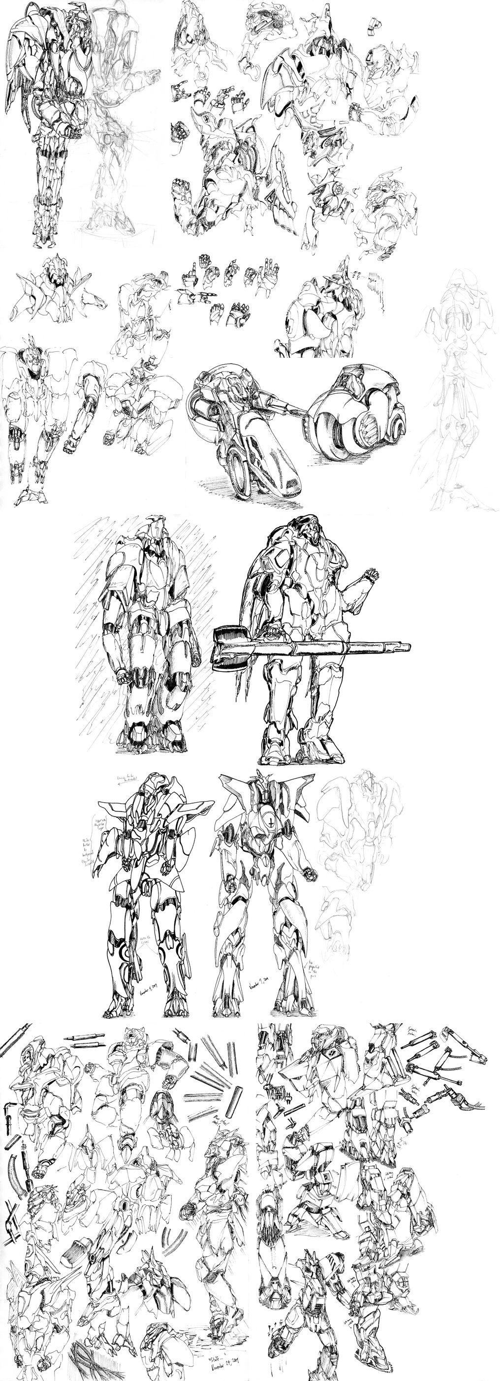 The Mecha Sketchbook - 25 by PlasmaFire3000