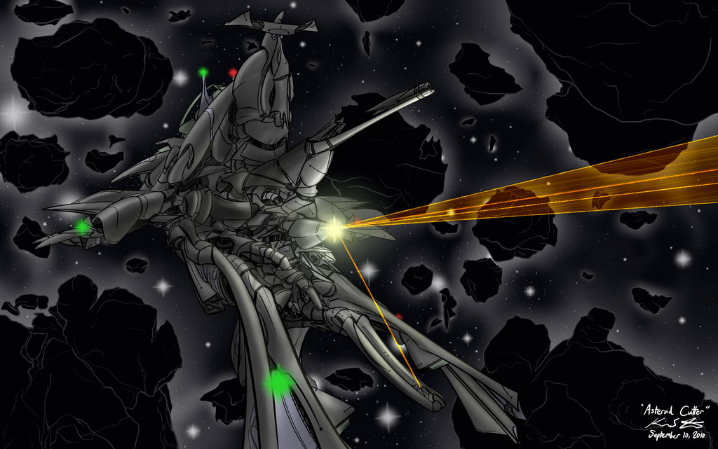 Asteroid Cutter by PlasmaFire3000