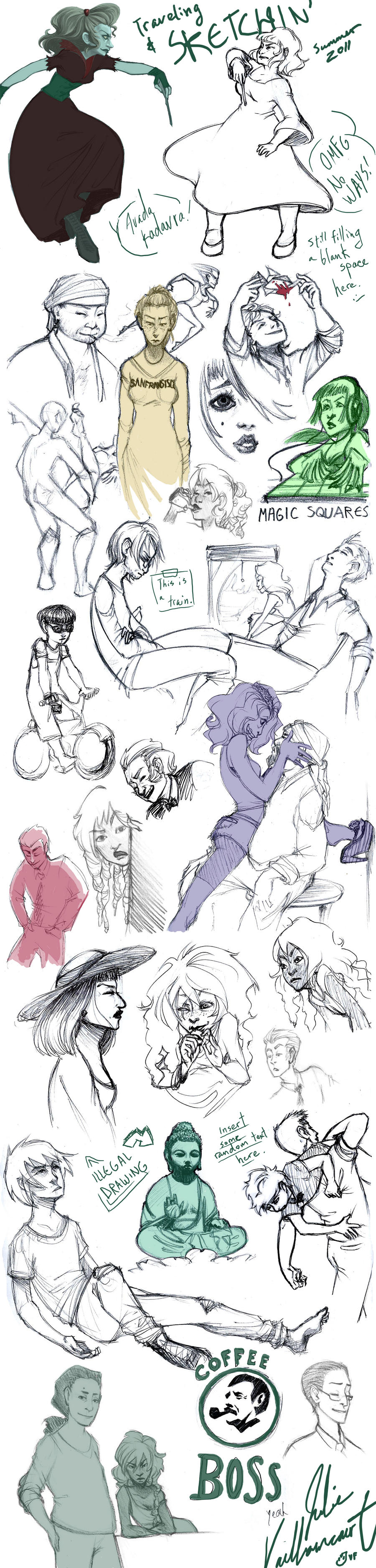 Sketchdump from Japan by TastingCockroaches