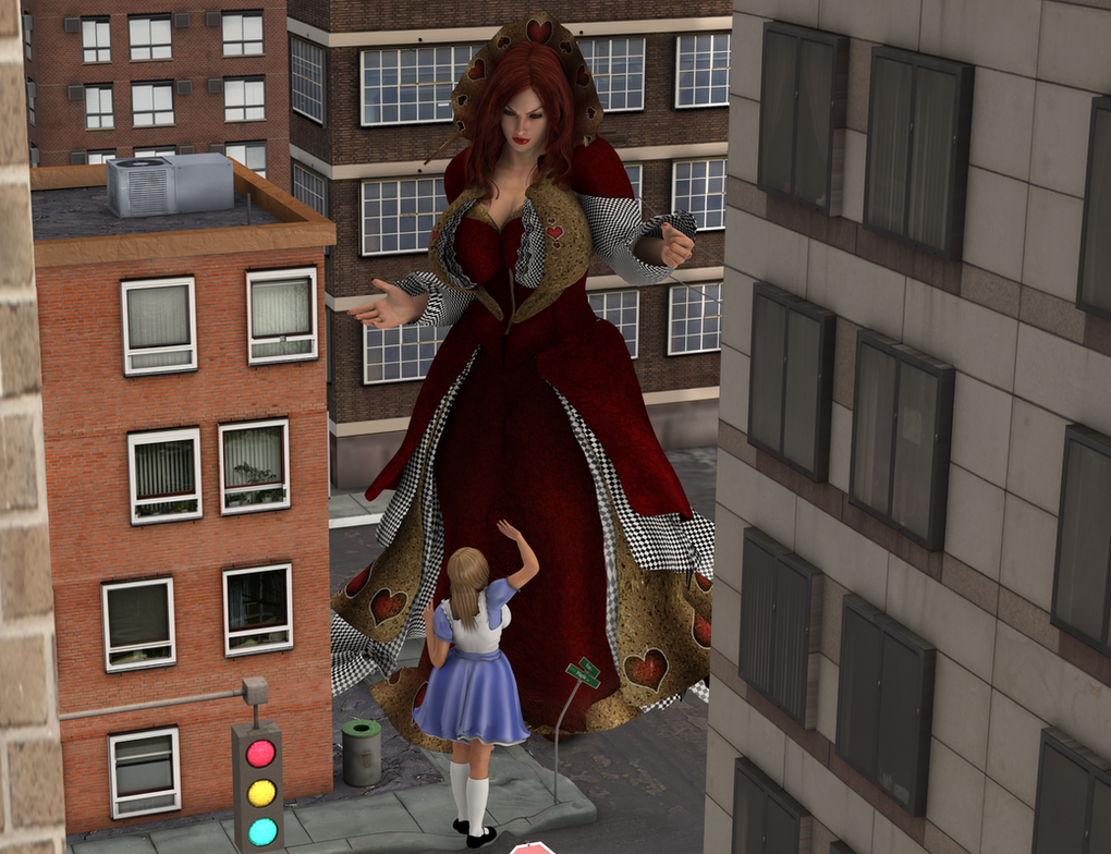 Giantess Alice feel small now !! by Big-ELSA