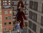 Giantess Alice feel small now !!