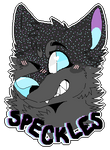 Speckles (Fursona Badge Comm) by Partyfurries