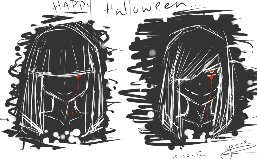Early Halloween Sketch By Y Kos On Deviantart