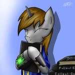 Littlepip with FoE books