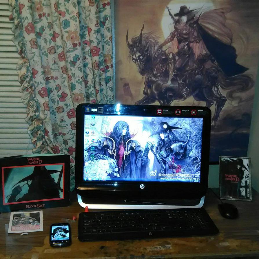 my VHD work area by VampireHunterDLover