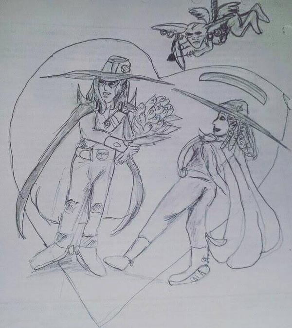 my oc Thyme Hyde and D by VampireHunterDLover
