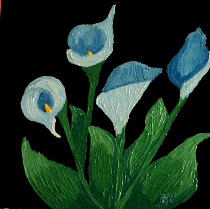 blue calla lilies by brooke1110 on deviantart. Black Bedroom Furniture Sets. Home Design Ideas
