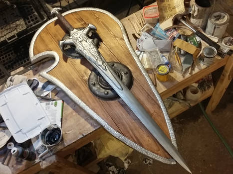 Dragon Age Alistair's sword and shield by BeCOSyouPLAY