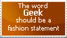 The word geek should... stamp