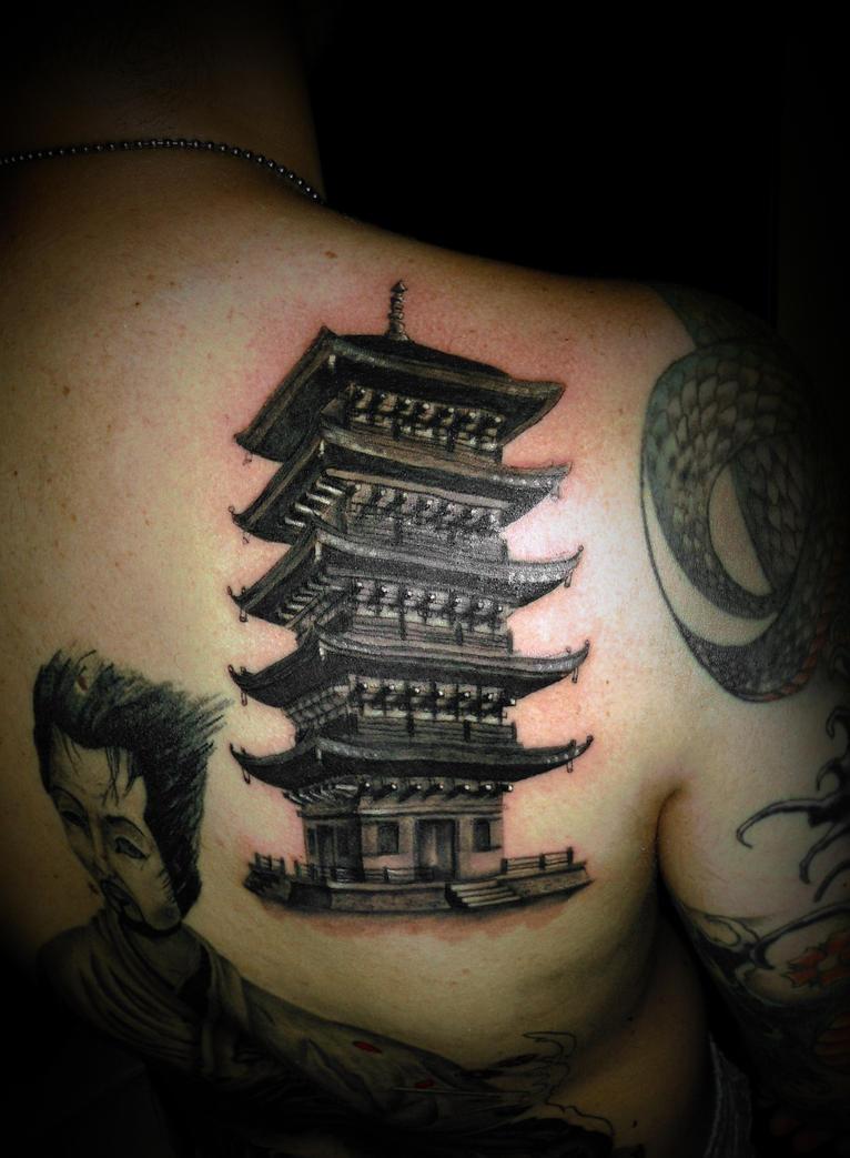 temple tattoo by virlaneduard on deviantart. Black Bedroom Furniture Sets. Home Design Ideas