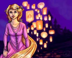 Tangled_the lanterns