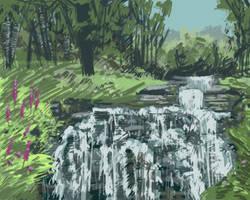 Norse waterfall