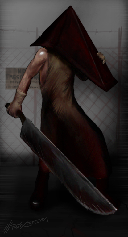 zomg, Pyramid Head by roxstein