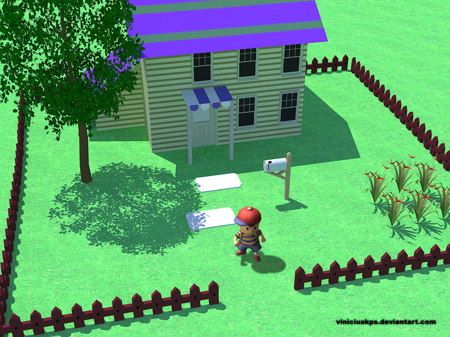 if earthbound was 3d by viniciuskps on deviantart