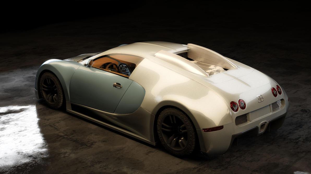 bugatti veyron rear by lietuvis2008 on deviantart. Black Bedroom Furniture Sets. Home Design Ideas
