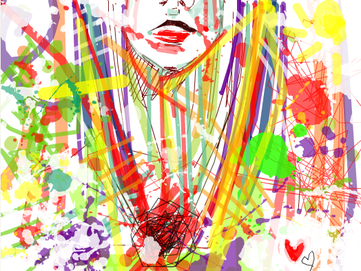 .I threw up on my canvas. by Inukosama