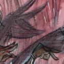 """Participation au défi """"Parler avec les mains"""". Erre'nest raconte à T'errance pourquoi son pantalon est déchiré."""