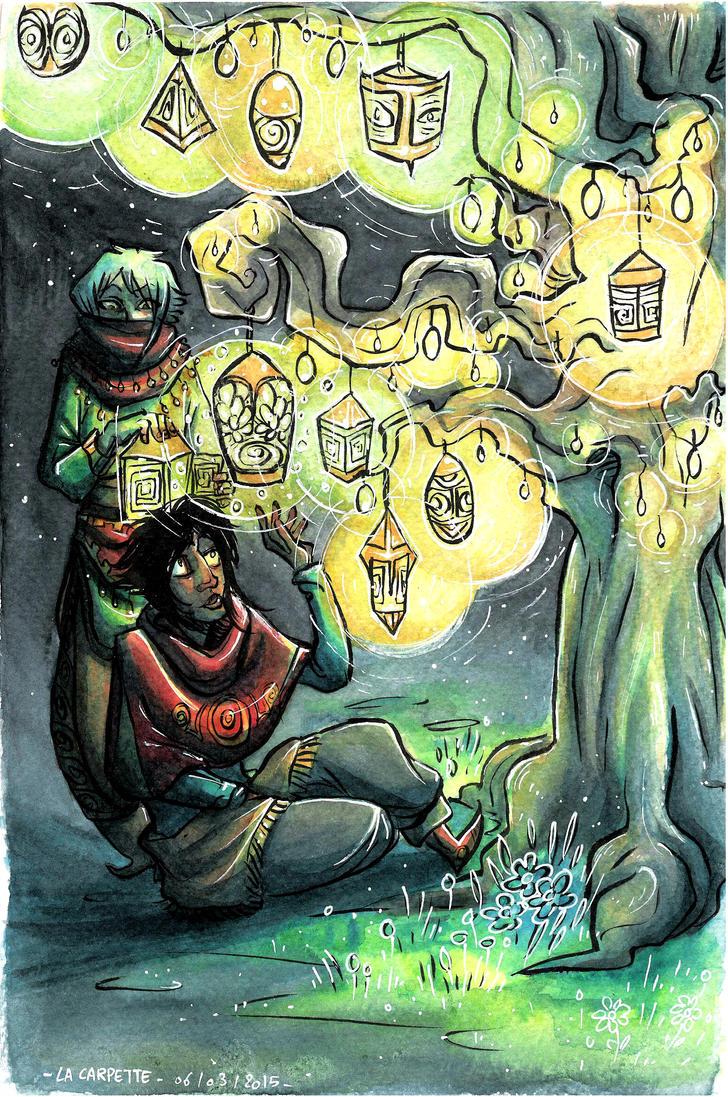 Lanterns tree by laredcarpette