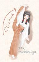 saki's standing oversplit by akihiro