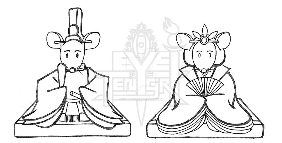 Emperor and Empress Mouse by eye-of-tengri