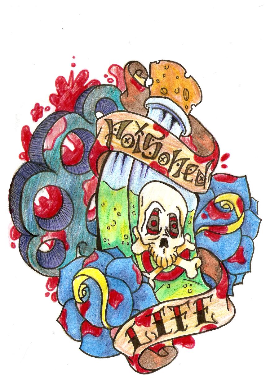 Poisoned Life Tattoo Flash By Vincesmind On Deviantart