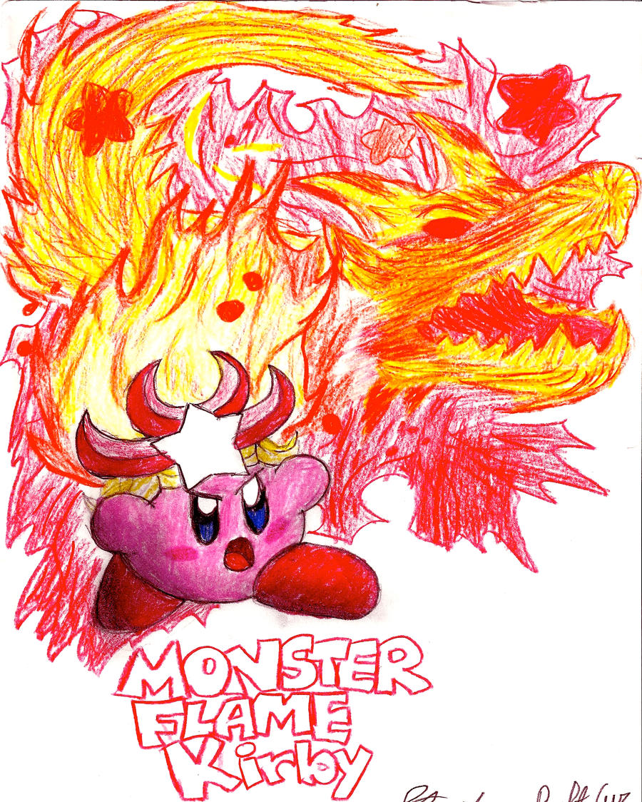 Monster Flame Kirby by stephan444 on DeviantArt