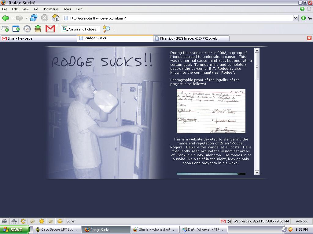Rodge Sucks by DRayKenobi