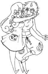 Lyra and Bon Bon by hybridfetish
