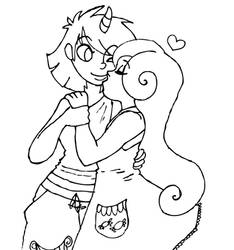 Bon Bon kisses Lyra by hybridfetish