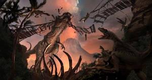 Jurassic World Death trap concept! by Mikealosaurus
