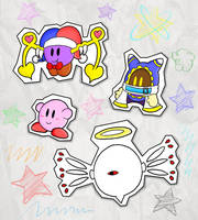 Paper Kirby Characters by Candy-Swirl