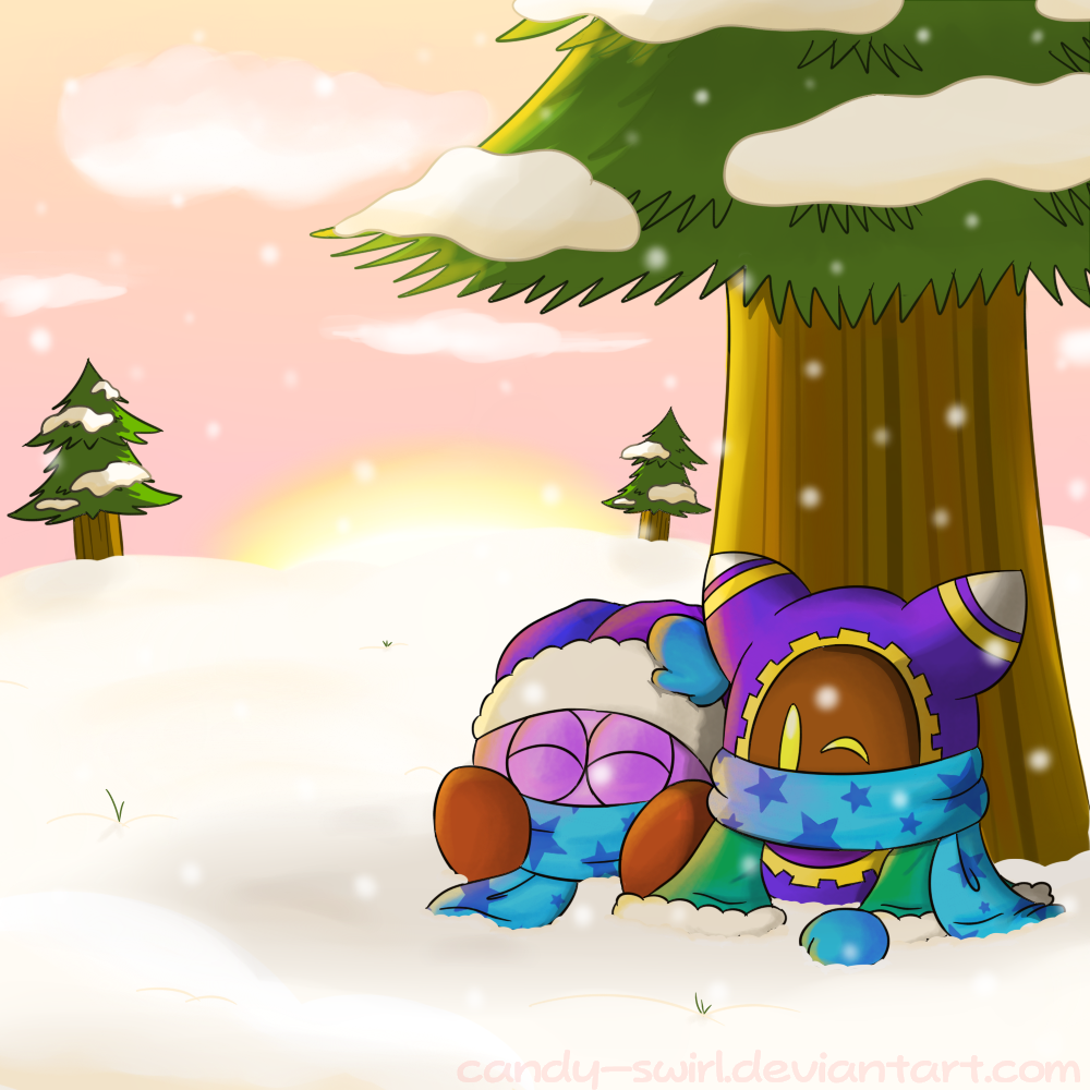 Snowy Sunset by Candy-Swirl